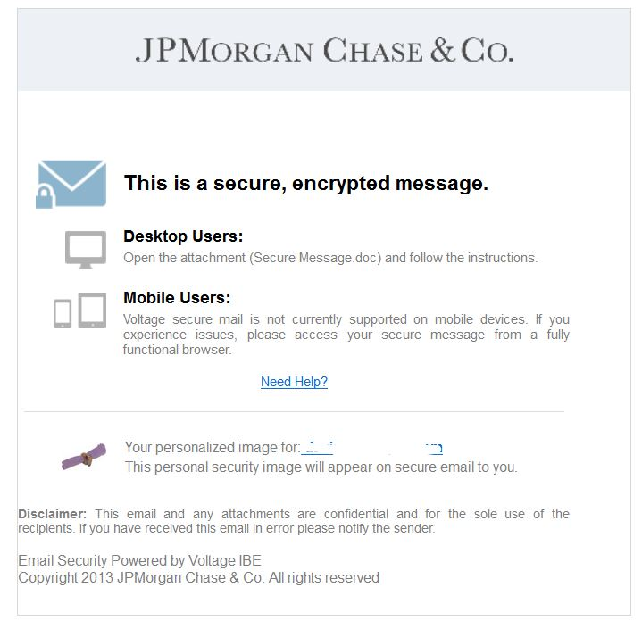 JP Morgan Chase fake email with virus | ScamWatch