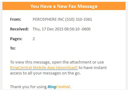 RingCentral New fax message scam email | ScamWatch