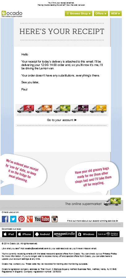 fake ocado delivery receipt email with word doc virus scamwatch